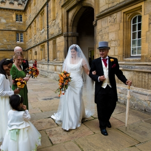 Autumnal Flowers for a New College and Oxford University Club Wedding