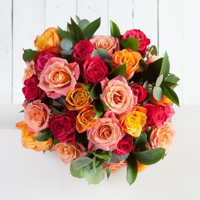 Luxury Vibrant Rose Bouquet