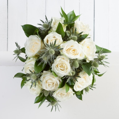 Luxury White Rose Bouquet