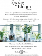 Fabulous Flowers and The White Company